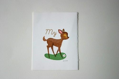 My deer lámina gocco