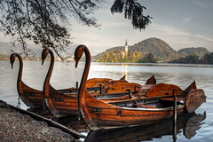 Wooden Swans (Atilla2008) Tags: lake alps beauty slovenia alpine bled woodenswan lakebled impressedbeauty mygearandme mygearandmepremium mygearandmebronze mygearandmesilver mygearandmegold mygearandmeplatinum mygearandmediamond