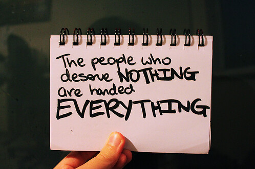 The non-deservers.