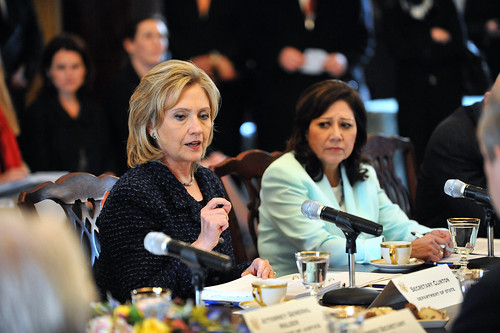 Secretaries Clinton and Solis Participate in the President's Interagency