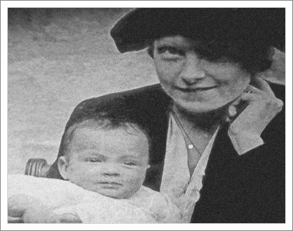 BABY BETTY DRIVER : Mrs Ellen Driver senior with her baby Elizabeth