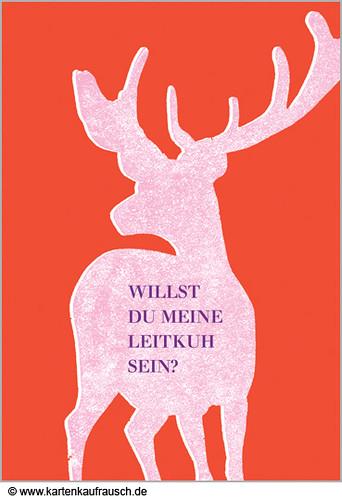 Valentinskarte: Romantisch Verstrahlter Hirsch