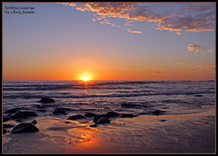 Nobbys Sunrise 079 (Chrisjam2009) Tags: beach sunrise newcastle rocks ship australia nsw headland chrisjames nobbys pacificsun canon60d