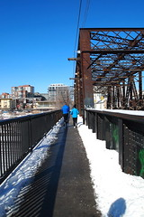 (Rimma Maslak) Tags: road city sky snow toronto ontario canada running runners february rm rimmamaslak