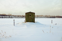 (dSavin) Tags: winter 2 white snow field barn forest booth garden rust iron hole bur cloudy loop russia side number sediment only fencing 311 pane pegs inscription wasteland handful serialnumber hinges whitelabel 2311  storagespace  greenpaint 2011    rustyiron  winterdawn          essentialwords   forinventory winterdoesnotwork              tracebird trackslight