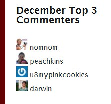 Top Commenter - December 2010