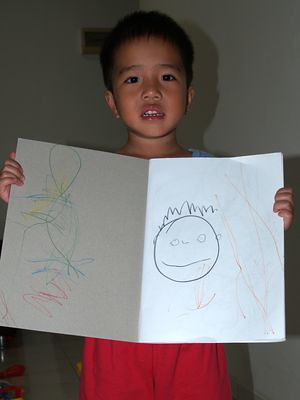 Julian draws himself