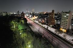 "Car light trails ""Nagoya"" (Shin-Nagoya) Tags: longexposure japan lowlight nagoya nightview nightphoto aichi afterdark citynight lighttrail lightstream urbannight localstreet carlighttrail nightcityscape"