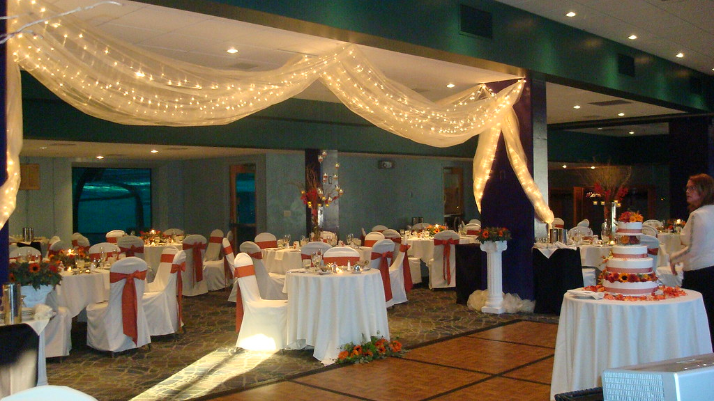 Dolphin Gallery set for a wedding reception.