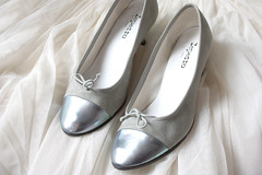 Cinderella's shoes (uncarnetsanspages) Tags: beauty look fashion silver blog personal style daim glac vernis repetto argent streetstyle ballerines wwwfrenchdiarycom
