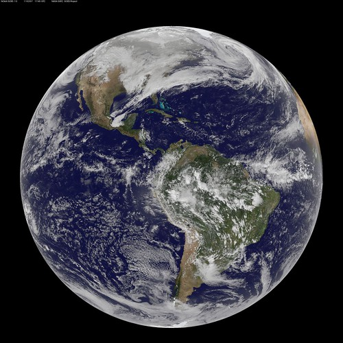 Full Disk Image of Earth Captured Feb. 7, 2011