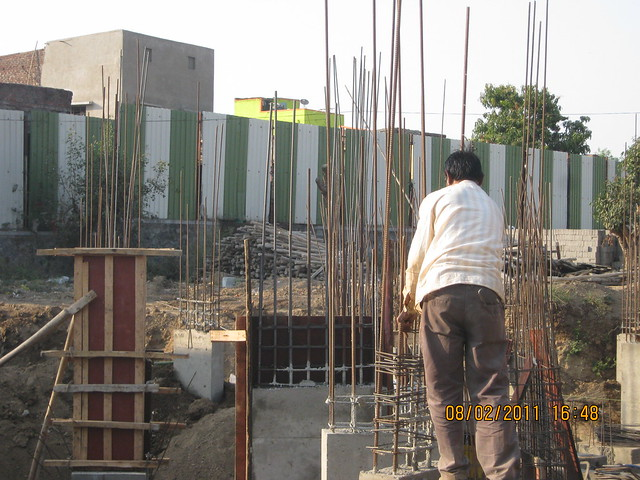 Vastushodh's Urbangram - 2 BHK Flat for Rs. 20 Lakhs - at Kondhawe Dhawade - Pune 411 023 - Construction Begins! - Columns of D Building