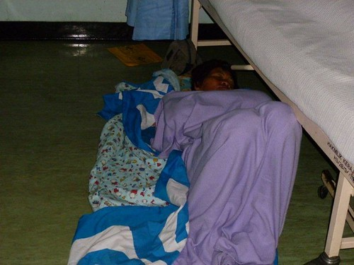 2b. Carers sleeping on the floor