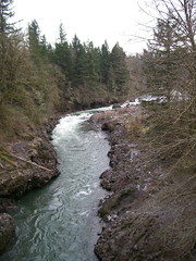 The Sandy River, looking east from the Revenue Bridge