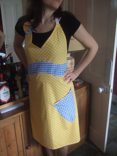 vintage apron number three - front