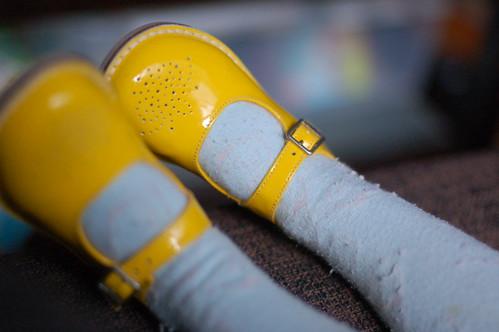 Ook gele schoentjes!