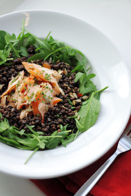 Salmon, Lentils and Rocket