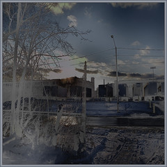 Cold Urban Lot (Tim Noonan) Tags: blue winter light sky urban art clouds digital photoshop truck wire lot vivid manipulation imagination mosca trailers shinning hypothetical enhancement vividimagination shockofthenew sotn stealingshadows sharingart maxfudge awardtree maxfudgeexcellence maxfudgeawardandexcellencegroup daarklands magicunicornverybest magicunicornmasterpiece magiktroll exoticimage bestofshinning