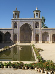 Reflecting pool at Nasir-ol Molk (devinshire) Tags: travel october iran shiraz 2009 mosques nasirolmolk