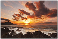 rhythm of the clouds (chris frick) Tags: longexposure sunset sea seascape coast rocks waves dusk wideangle cliffs filter lee sicily burningsky mediterraneansea trapani sanvitolocapo watermotion canonef1635mmf28liiusm chrisfrick golfodicofano canoneos5dmark2 09gndsoft 075gndhard aegadicislands