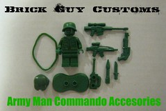 Brick Guy Customs Army Man Commando (Accessories) (The Brick Guy) Tags: forsale lego toystory armyman commando brickarms brickforge brickguycustoms greenbrickarms