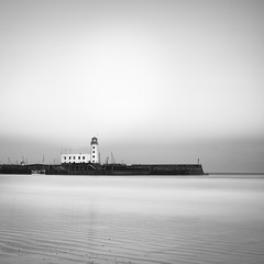 Scarborough fair (c e d e r) Tags: ocean uk longexposure sea england bw seascape pier scarborough nd110 daytimeexposure