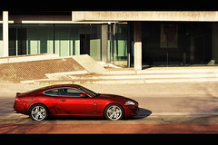 XKR (Thomas van Rooij) Tags: street city red cars netherlands car photography 50mm nikon thomas f14 14 arnhem profile nederland automotive spot exotic jaguar nikkor rare 2009 coupe supercar afs exotics supercars xkr xk d90 f14g rooij thomasvanrooij