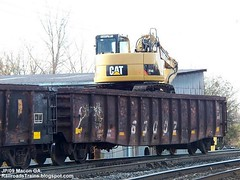 CAT Box, large size. Railroad Train equipment,Norfolk Southern,Macon Georgia (georgiabees.blogspot.com John Pluta) Tags: norfolksouthernrailroad johnpluta