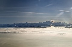 Chamonix from the plane (aryapix) Tags: france mountains clouds montagne plane cumulus nuage chamonix mont blanc avion valle