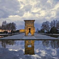 Templo de Debod (II) (Artigazo ) Tags: madrid sunset espaa canon atardecer temple zonsondergang spain espanha tramonto sonnenuntergang prdosol puestadesol espagne