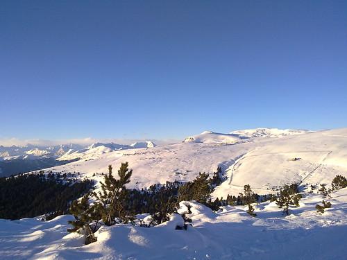 Blick gegen Norden auf die Sarntaler Alpen und den Alpenhauptkamm