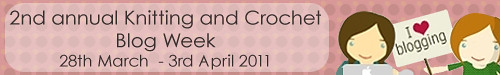Knitting and Crochet Blog Week Banner Pink