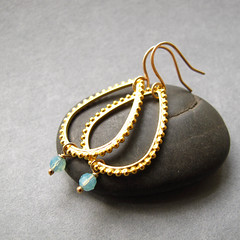 Calm - 14k gold hand hammered ear wire