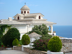The Orthodox Monastery of Archangel Michael (Alexanyan) Tags: sea sky island greek michael cross aegean christian greece monastery grecia orthodox archangel grece thassos  griechland