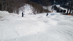 上級者コースをレンタルスキーで滑ったらきつかった。足腰にきました