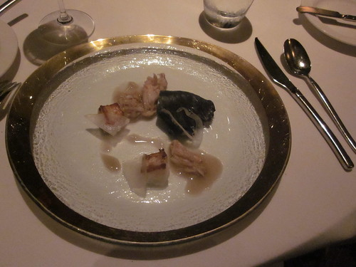 Manresa - Los Gatos, CA - Citrus Dinner - February 2011 - Scallop Shards and Dungeness Crab, Kyoto Miso with Etrog Citron