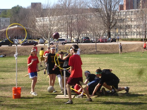Quidditch Match: NCSU vs. ASU - At the goal hoops