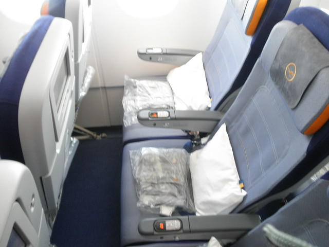 Lufthansa A380 Economy Class Seat