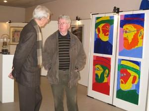 Paul Eerlings en Frans Verbinnen bij Damiaan