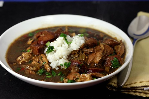 30 by 30: Chicken and Smoked Sausage Gumbo – Elly Says Opa!