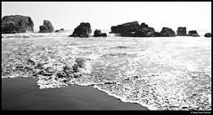 Rocks (idoazul) Tags: blackandwhite bw blancoynegro beach water birds agua pacific playa pacfico pájaros perú
