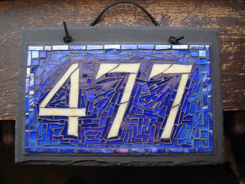 Custom Mosaic House Number 477