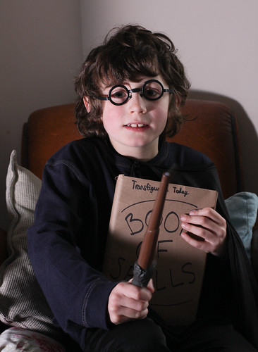 Finn does harry potter for world book day