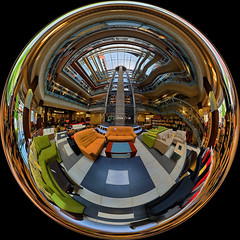 Lobby Mirror Ball HDR (geopalstudio) Tags: panorama ball mirror nikon lobby hdr d60 360180 promoteremotecontrol