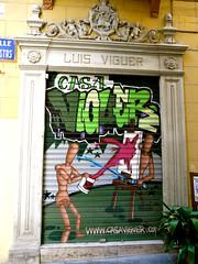 Luis Viguer - Bellas Artes - Arte Urbano en persiana comercial
