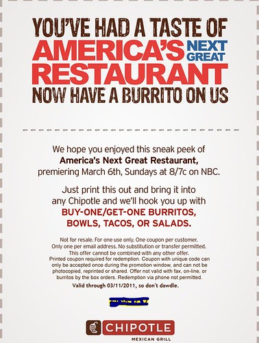 Free Chipotle Coupon