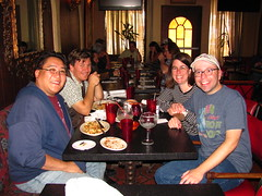 Me, Kurt, Chrissy and Joseph at Lucy's El Adobe (Loren Javier) Tags: california me losangeles hollywood josephpowers lucyseladobecafe lorenjavier kurtnielsen chrissypowers
