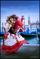Venice - Audrey - Carnevale di Venezia | Venice Carnival 2011 (Yen Baet) Tags: venice people italy color festival portraits veneza costume italian colorful europe tourist celebration masks gondola venetian venise venecia venezia venedig sanmarco larva stmarkssquare sangiorgiomaggiore veneto  volto veneti 2011  carnevaledivenezia dogepalace venicecarnival traveldestination bauta  veneti  mascherari
