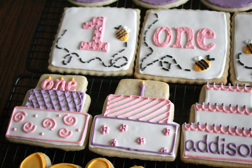 Pooh Cookies for Addison's 1st birthday.