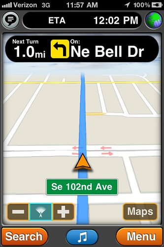 GPS Drive App Screen Shot
